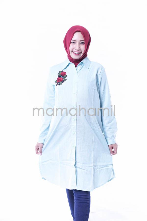 Baju Hamil Kerja Dress Tunik Panjang Syari - BLJ 399