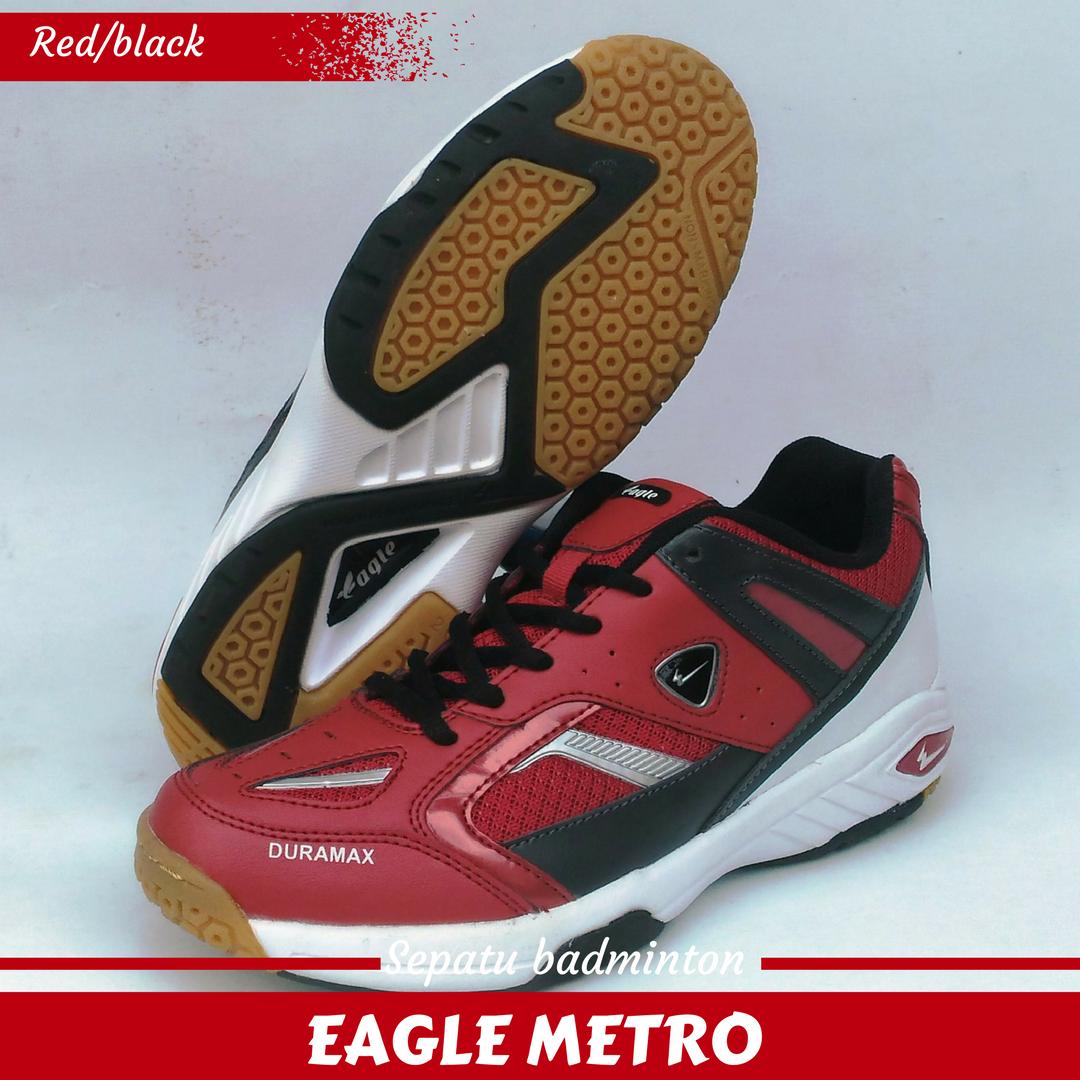 Jual Sepatu Badminton Bulutangkis EAGLE METRO Red black ... 3c38dd5f32