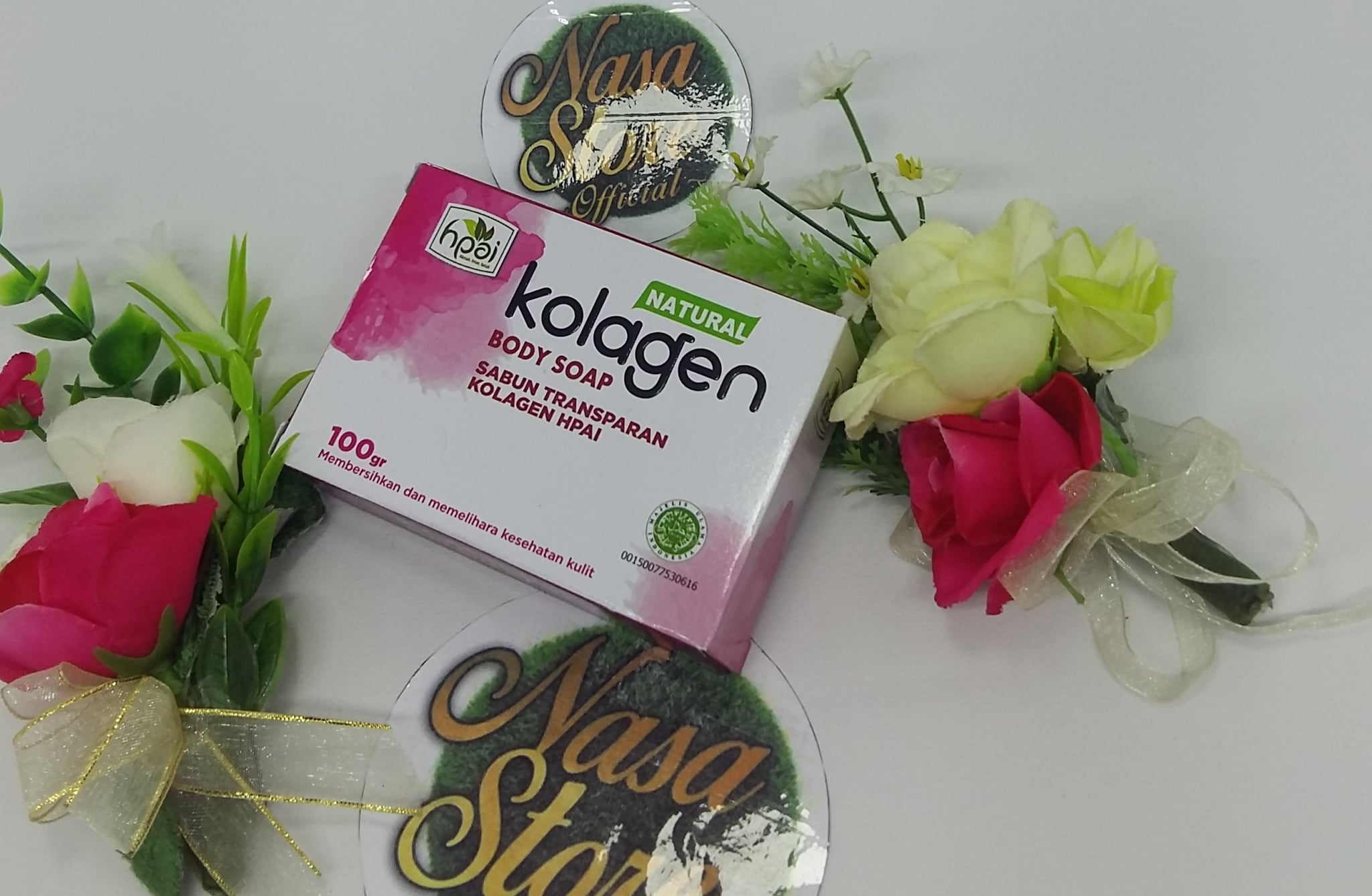 Jual Sabun Natural Kolagen Body Soap Transparan Hpai 100gr Nasa Store Tokopedia