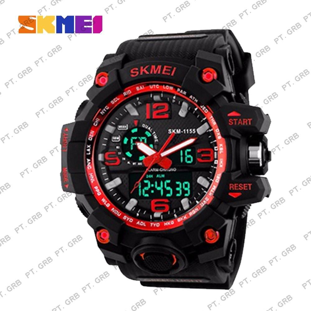 Jam Tangan Pria/Wanita Digital SKMEI 1155 Black Red Water Resistant 50M