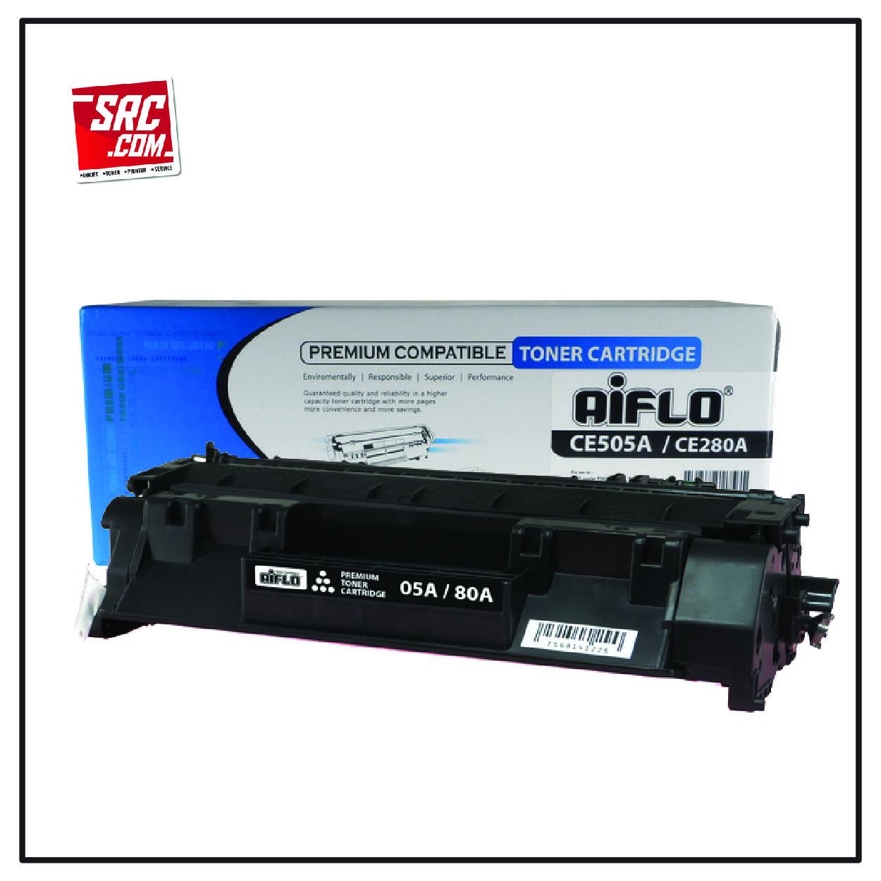 Aiflo Toner Hp 05a/80a Ce505a Ce280a Black Compatible Cartridge
