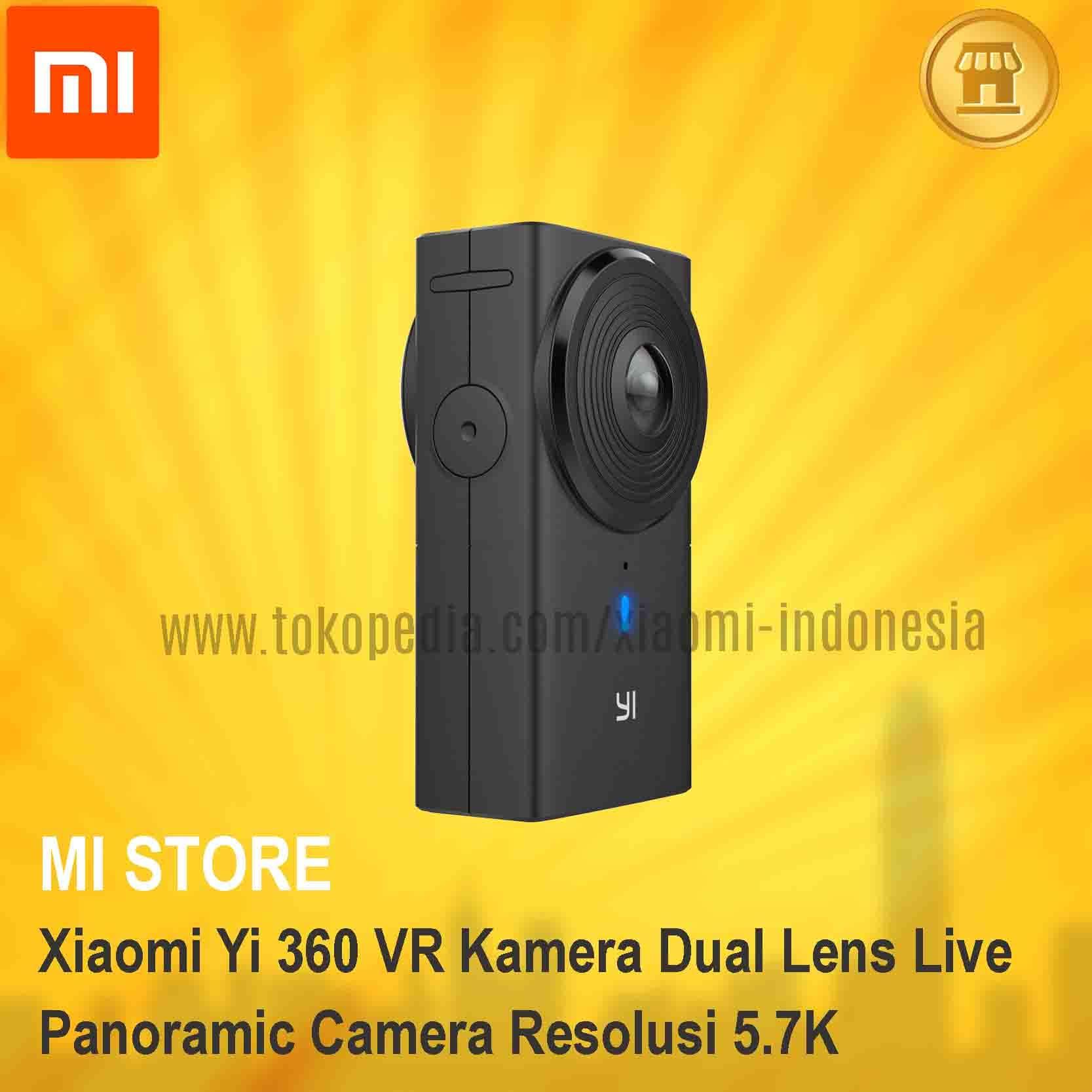 Jual Xiaomi Yi 360 VR Kamera Dual Lens Live Panoramic Camera Resolusi 5 7K MI STORE
