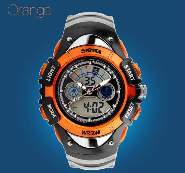 Jual jam tangan anak laki laki original anti air 0998 black ORANGE ... 5c67eb248a