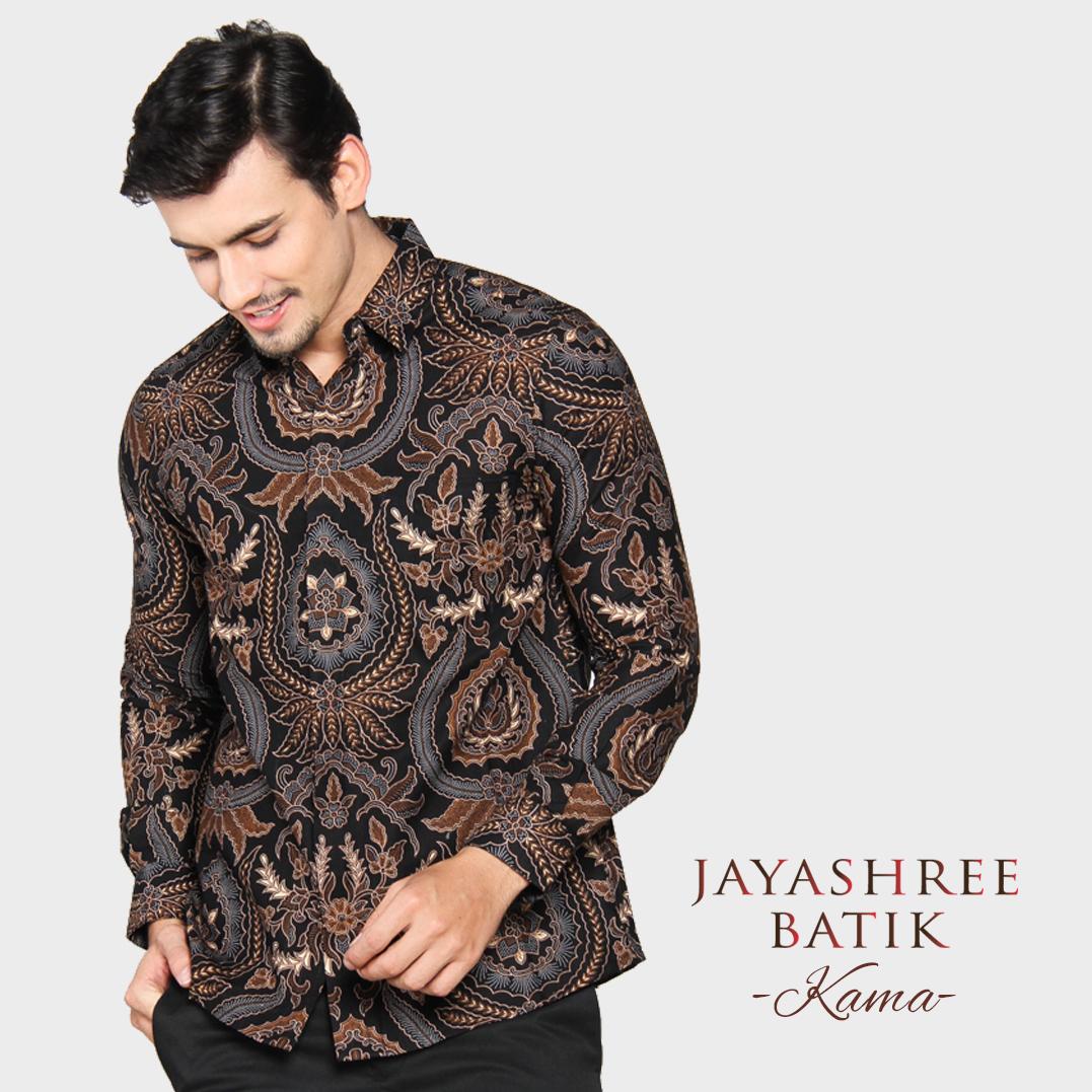 Jayashree Batik Kemeja Slimfit Kama Black Long Sleeve Pria