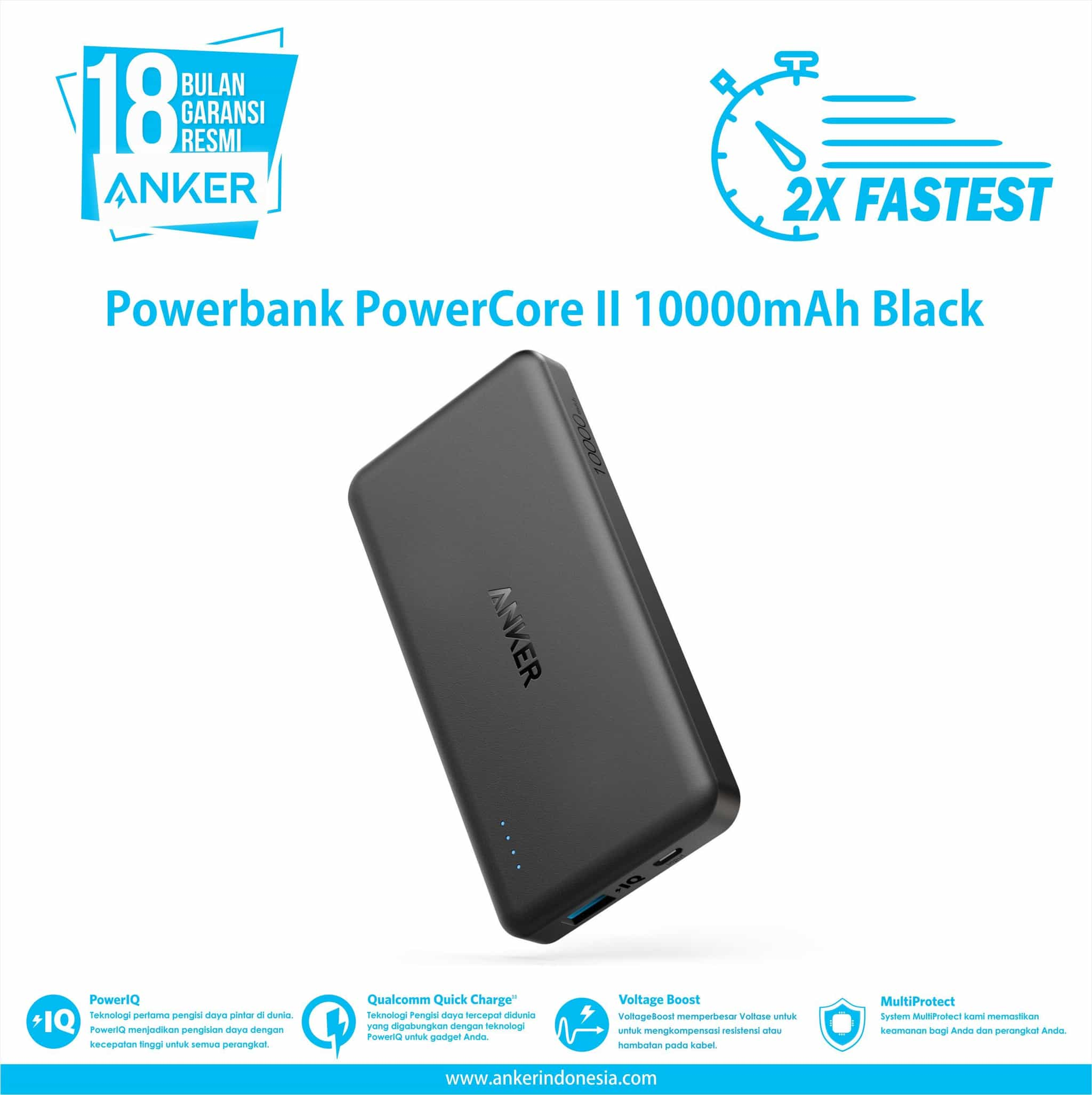 Anker Powercore 26800 And Powerport 1 Hitam Daftar Harga Terbaik Wall Charger Usb C Quick Charge 30 A2012311 Ii Slim 10000mah Black A1261h11