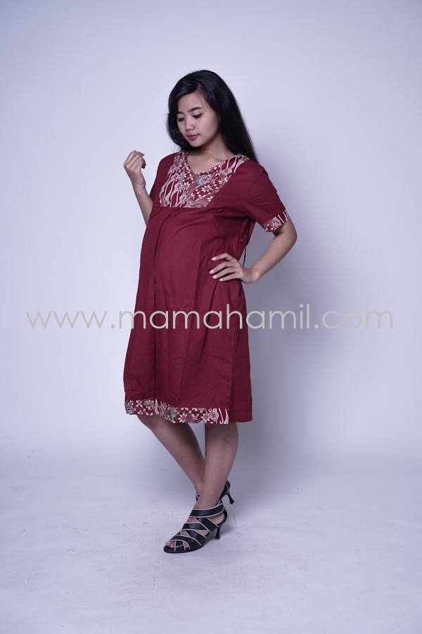Jual Baju Hamil   Dress Hamil Menyusui   Etnik Krah V Tiffani - Dro ... 608683d747