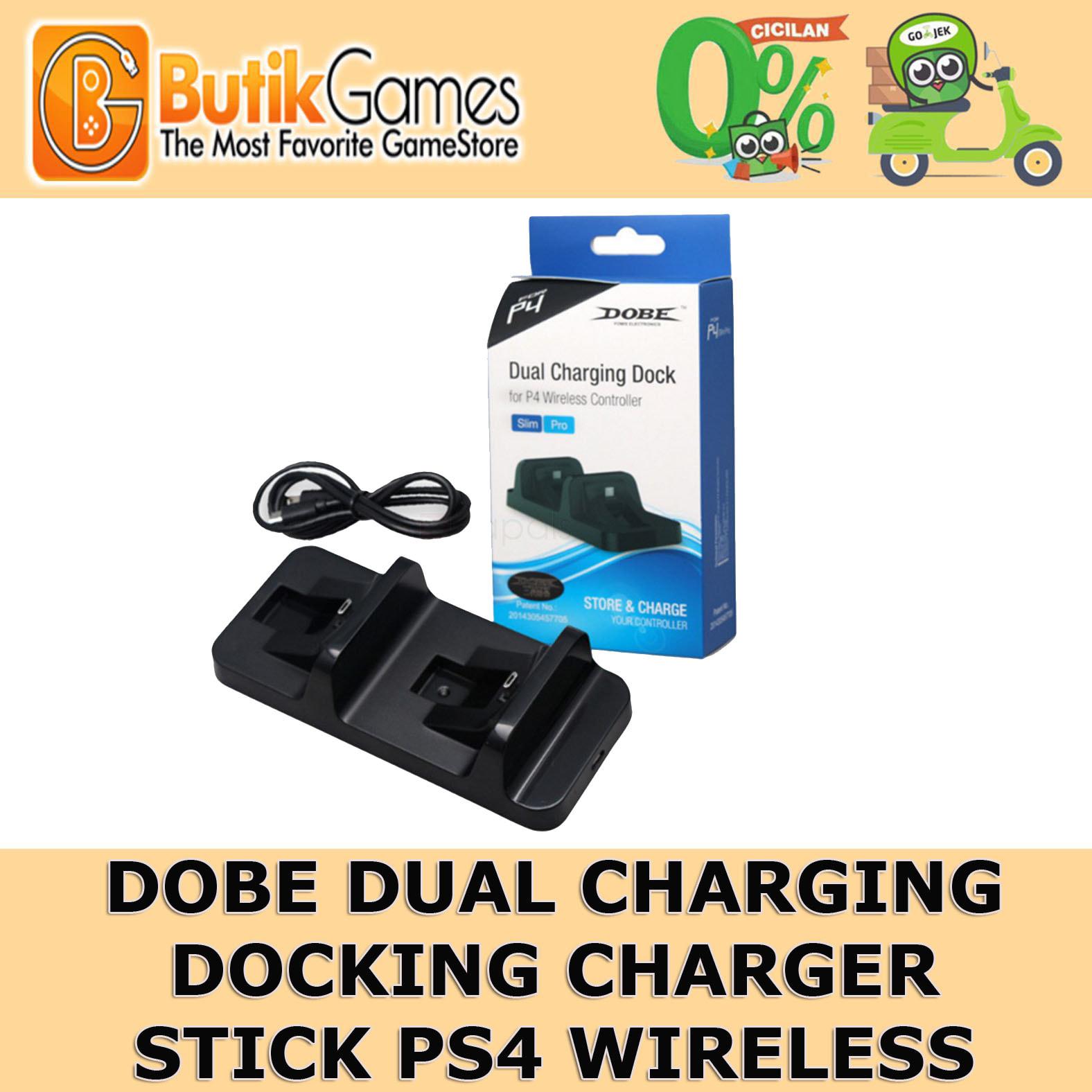 Jual Dobe Dual Charging Dock Ps4 Charger Stick Double Slim Pro Butikgames Tokopedia