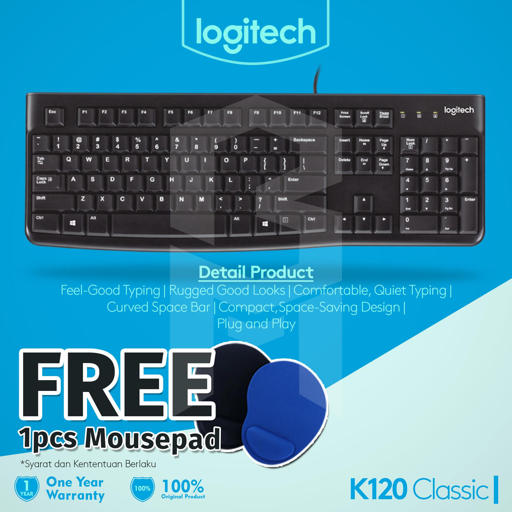 Logitech Wireless Mk235 Combo Keyboard Mouse Hitam Gratis Usb Hub Black K120 Free Mousepad