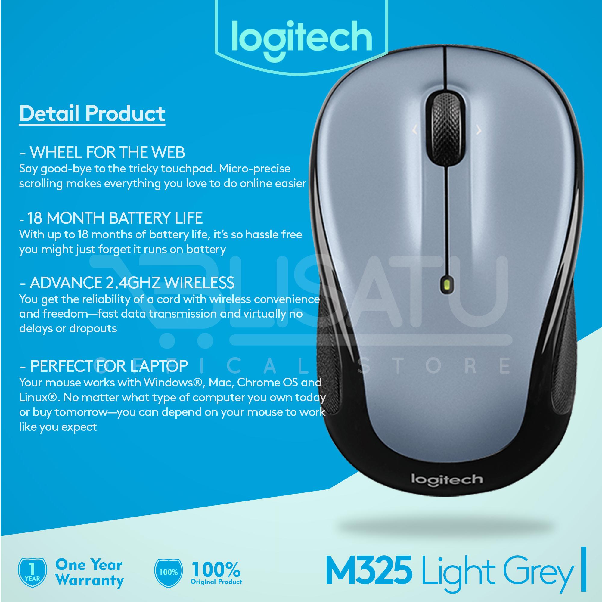 Logitech Wireless Mouse M325 Light Grey