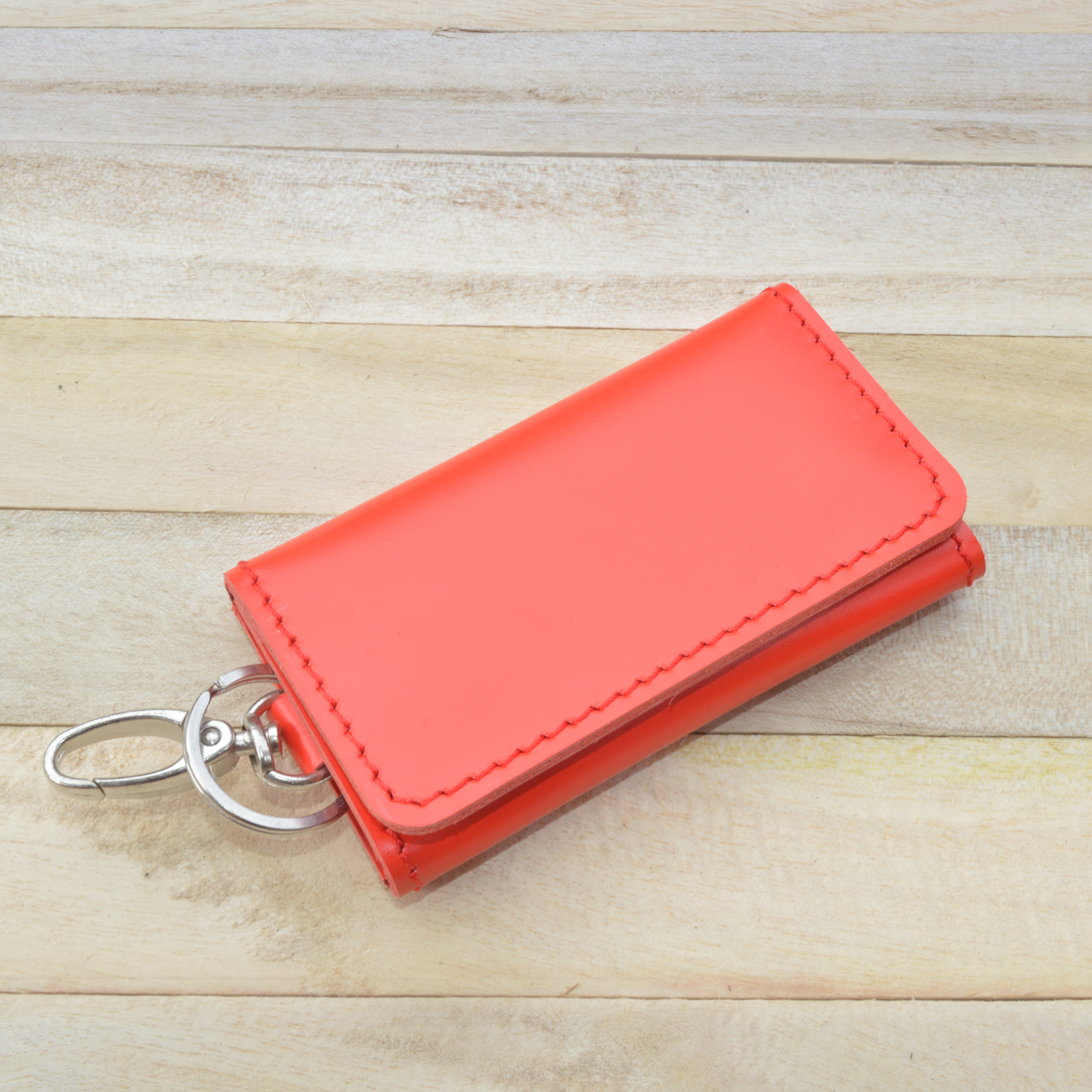 [Produk UKM] - Dompet Stnk Kulit Lipat Tiga Warna Merah | G - Blanja.com