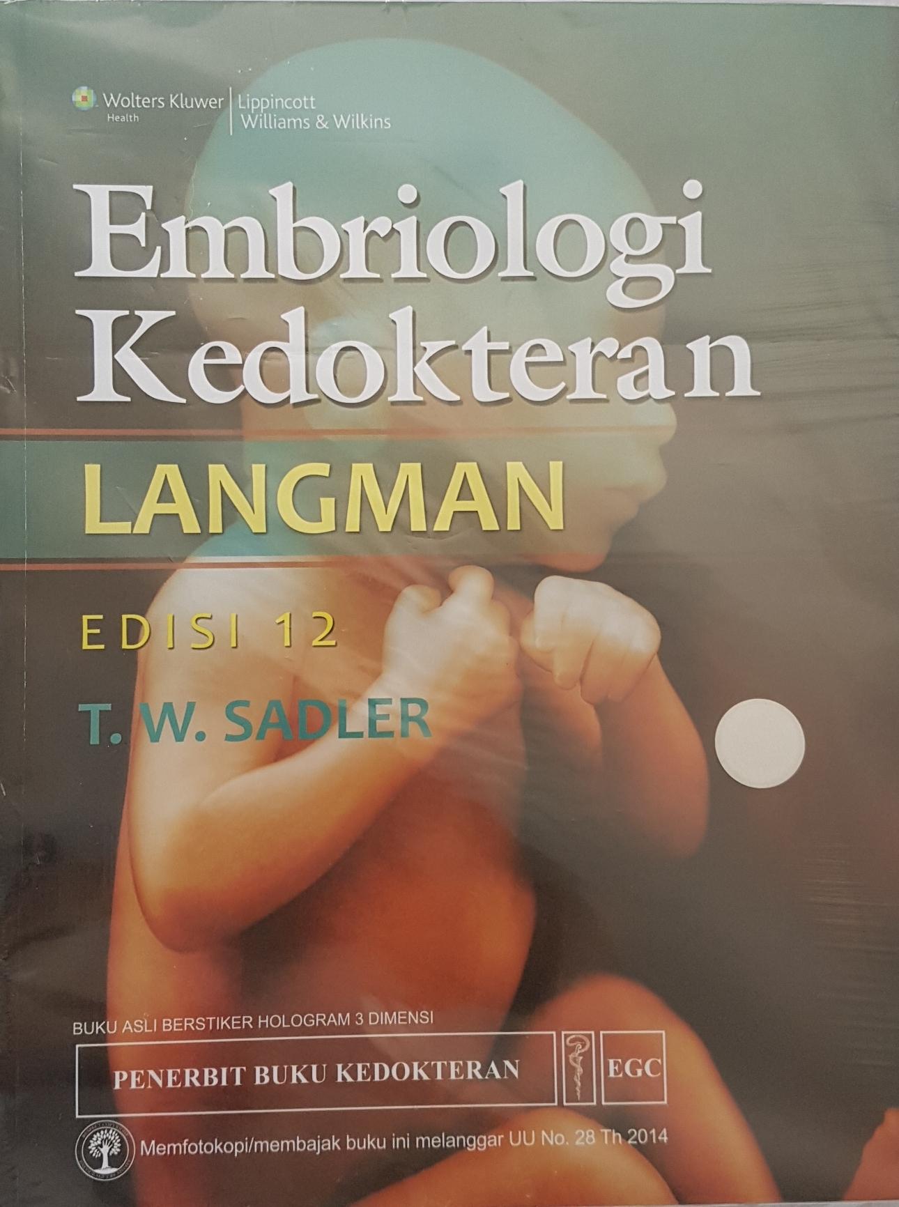 [ORIGINAL] Embriologi Kedokteran 12e Langman