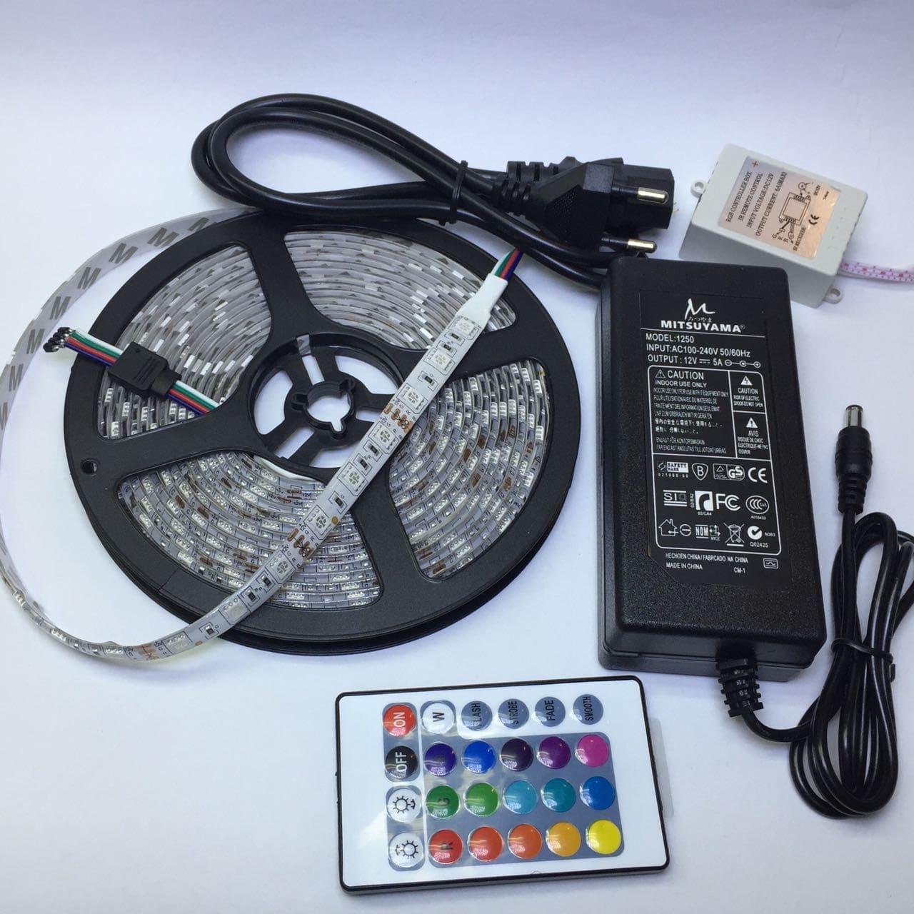 Lampu Hias Led Strip 1 Set (Adaptor + Remote)