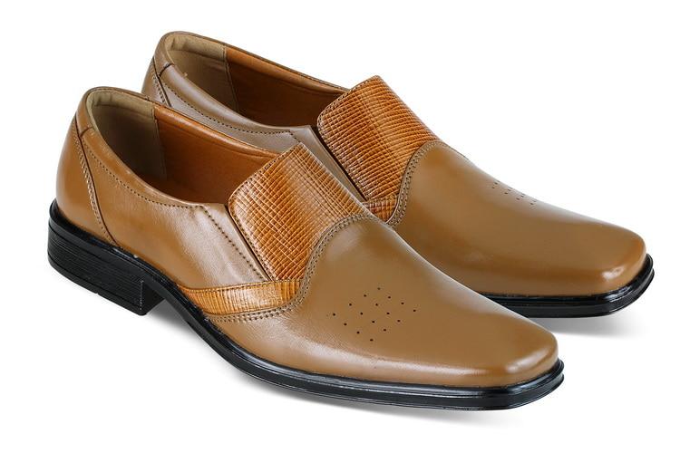 harga Sepatu Formal Pria Pantofel Kerja Kantor Kulit Asli Tan, Jk18 037 Blanja.com