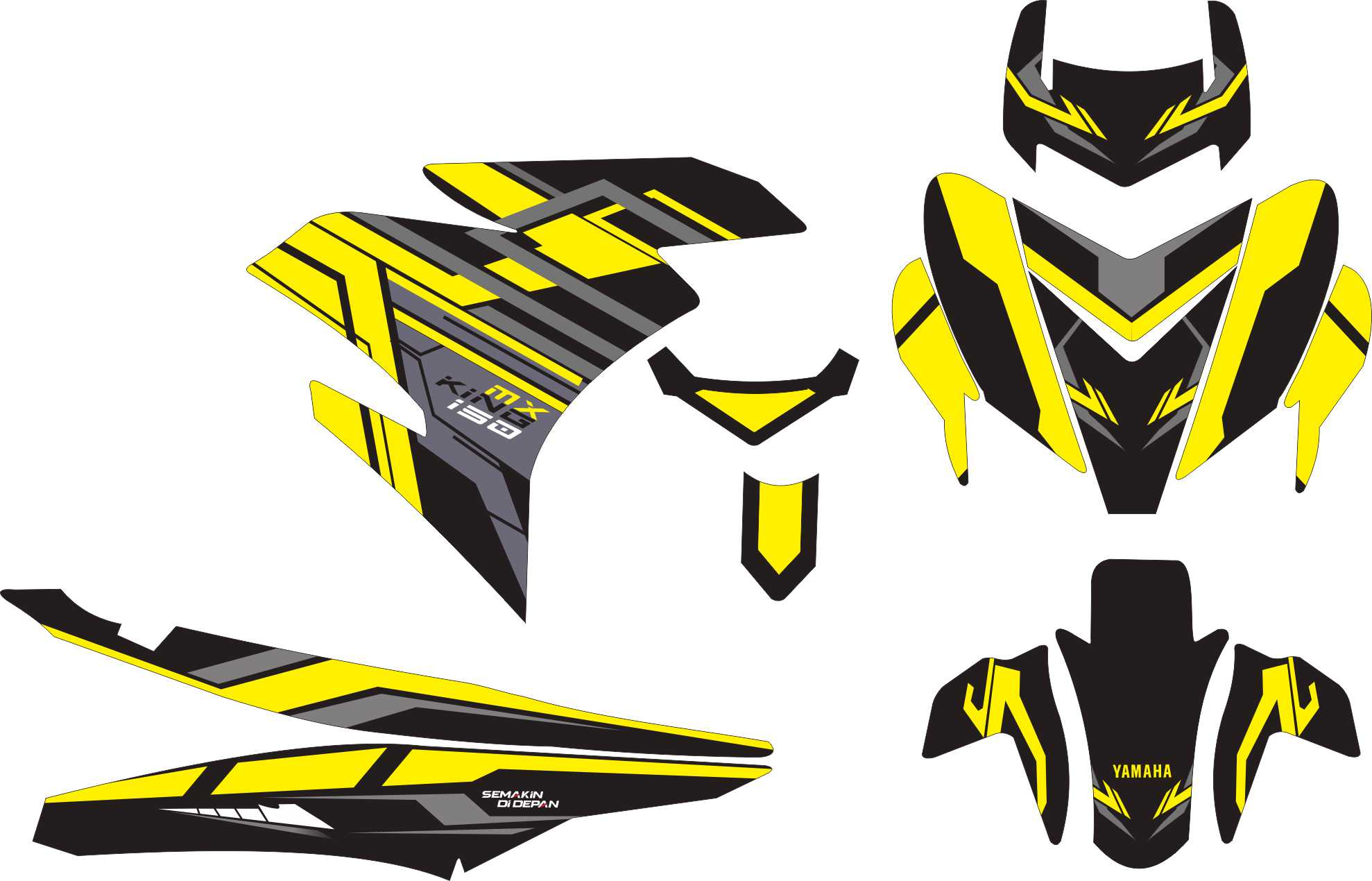 Beli stiker motor yamaha mx king 150 hi tech grade s