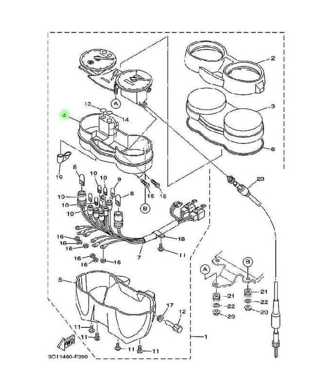 Jual Dijual Box Speedometer Dalam Putihan Vixion 3c1