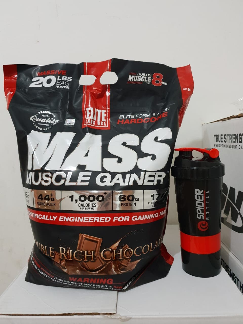 Jual Elite Labs Mass Muscle Gainer 20 Lbs Susu Fitnessku Tokopedia