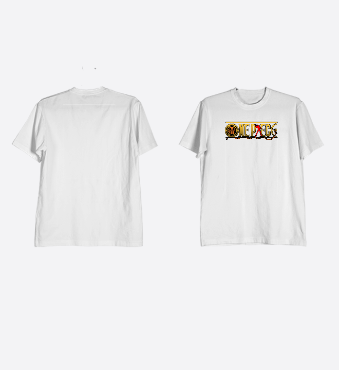 Jual Kaos Anime One Piece Katun / Cotton Combed Logo Trafalgar Law