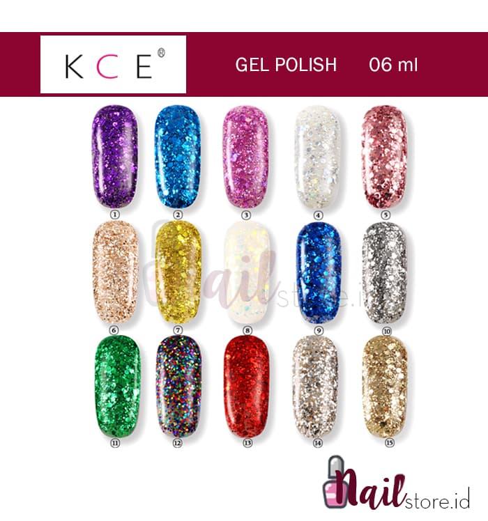 KCE Nail polish KCE Gel Polish 6ml glitter gel kutek gel glitter nails thumbnail