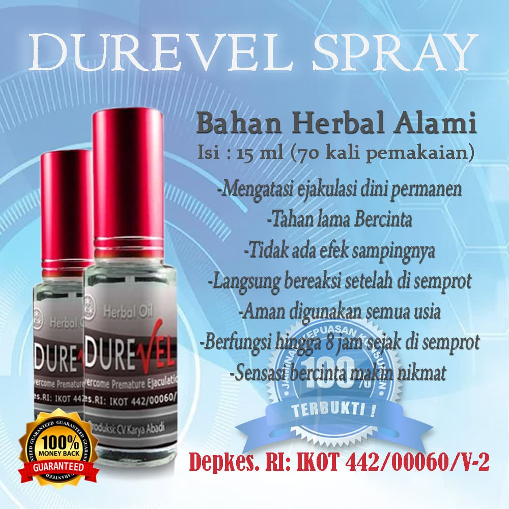 Jual Durevel Spray Obat Tahan Lama Oles Untuk Pria Ampuh Tanpa Efek Samping Rumah Herbal 99 Tokopedia