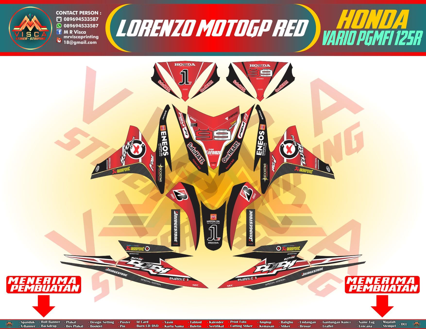Motogp Vinyl Decals Layout Custom Sticker