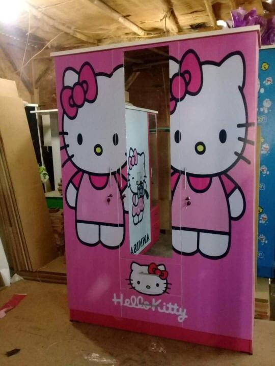 52+ Gambar Desain Lemari Pakaian 3 Pintu Hello Kitty Paling Hist
