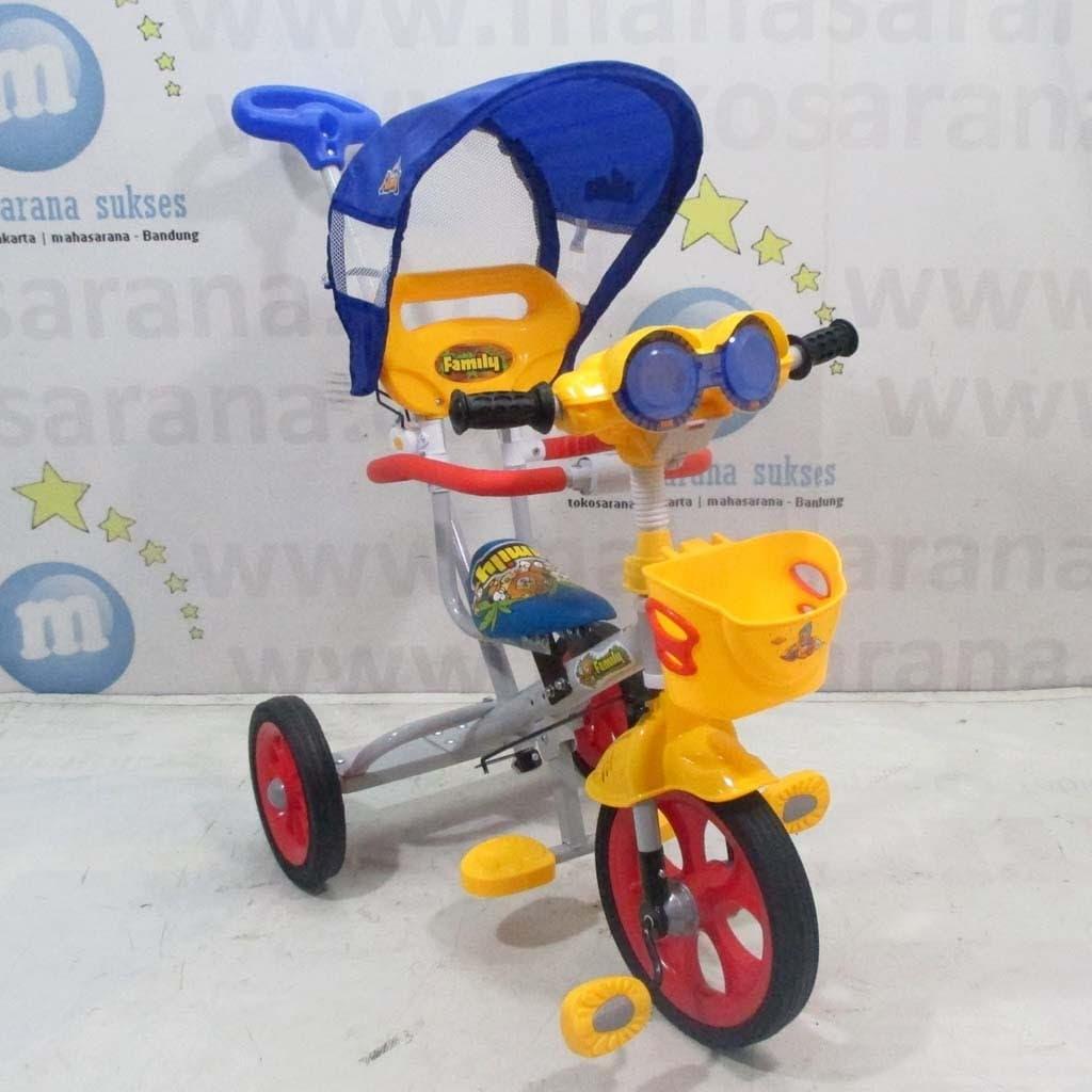 HEMAT Sepeda Roda Tiga Family F319HT Musik Astro Tongkat Dorong Kemudi BMX 2244020bd0