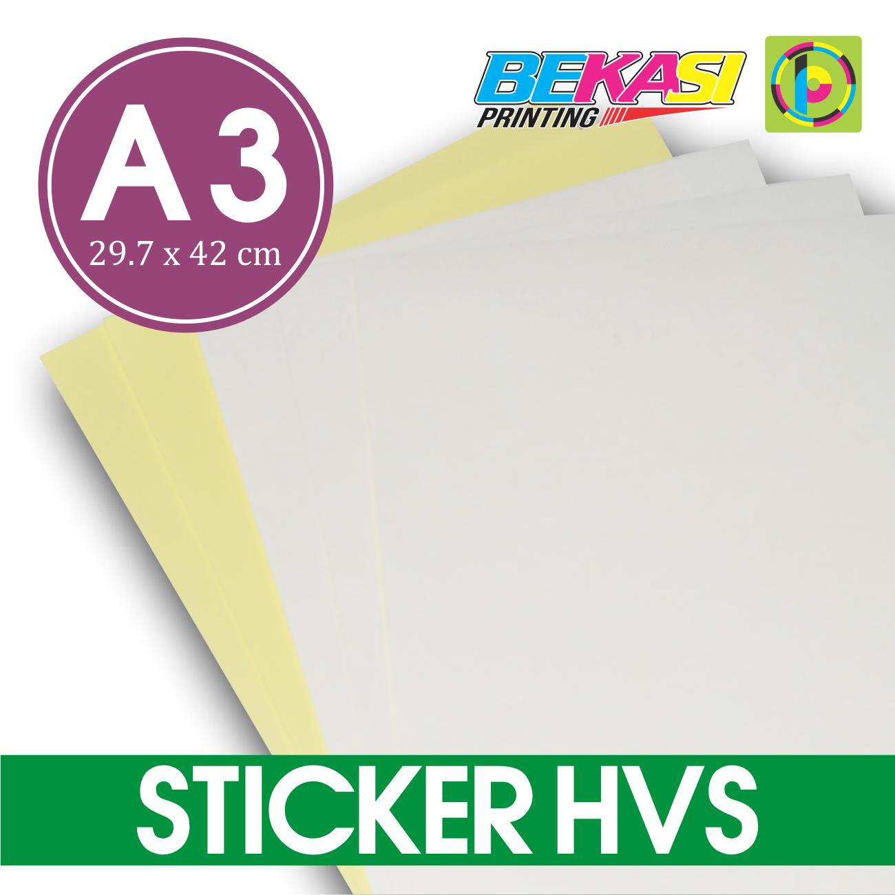 Jual kertas stiker hvs a3 printable sticker bisa di print kota