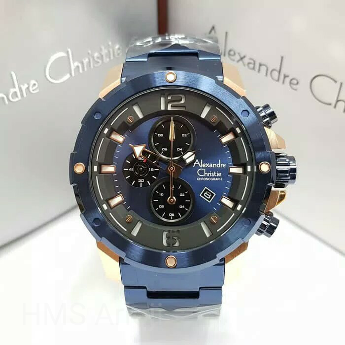 Jam Tangan Pria Alexandre Christie AC 6410 MC BRUBU Chronograph