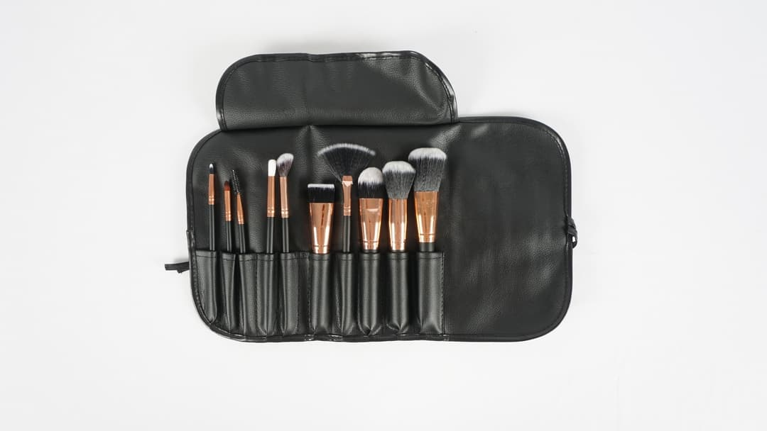 MAKE UP BRUSH KUAS ISI 10 PLUS POUCH MAKE UP BRUSH SEKOLAH MAKE UP thumbnail