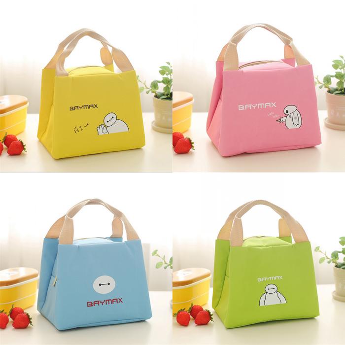 Lunch Cooler Bag Box Tas Bekal Anak Karakter Baymax Big Hero 6 Bay Max - Kuning