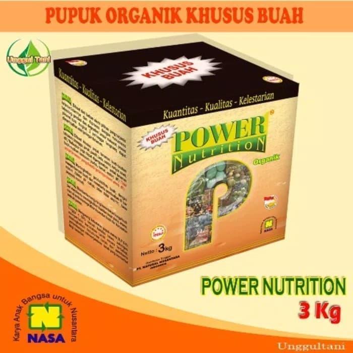 Pupuk organik khusus buah -power nutrition Nasa kemasan 3 kg | Distributor Nasa Sukorejo