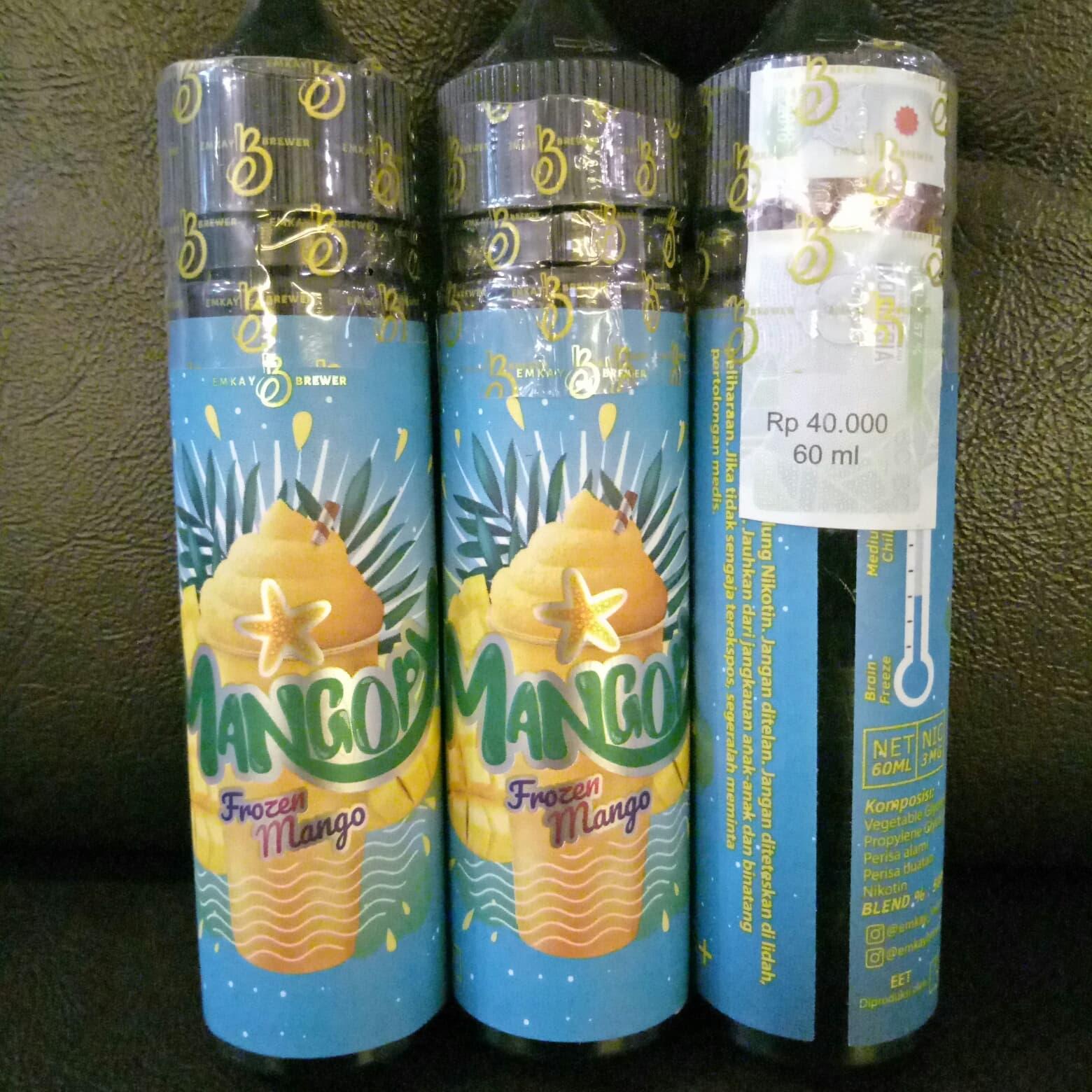 Jual Mangopy By Cmw Frozen Mango Manggo Premium Liquid Lokal 60ml 3mg E Vapor Vape Vaping Biker Shop Tokopedia
