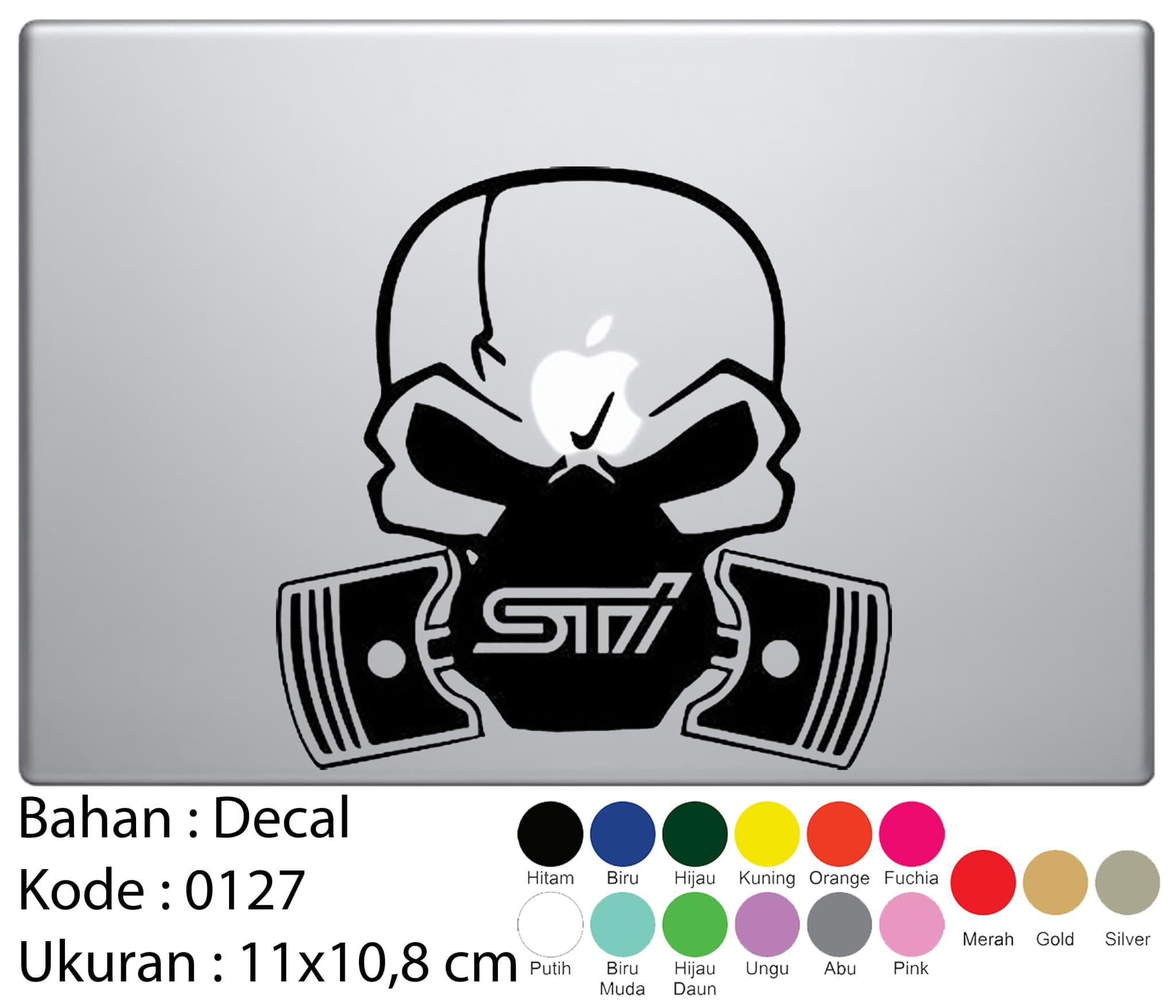 Penawaran sticker decal laptop mobil minion skeleton