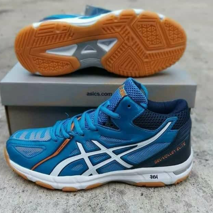 Jual ASICS Gel Volley Elite 3 MT Blue B501N-4301 - Suripah Shoes ... 6c37bece42
