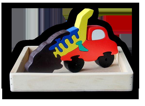 Jual mainan kayu edukasi - puzzle satuan 3D Truk Tanah (Tanpa ... c3ebfa332b