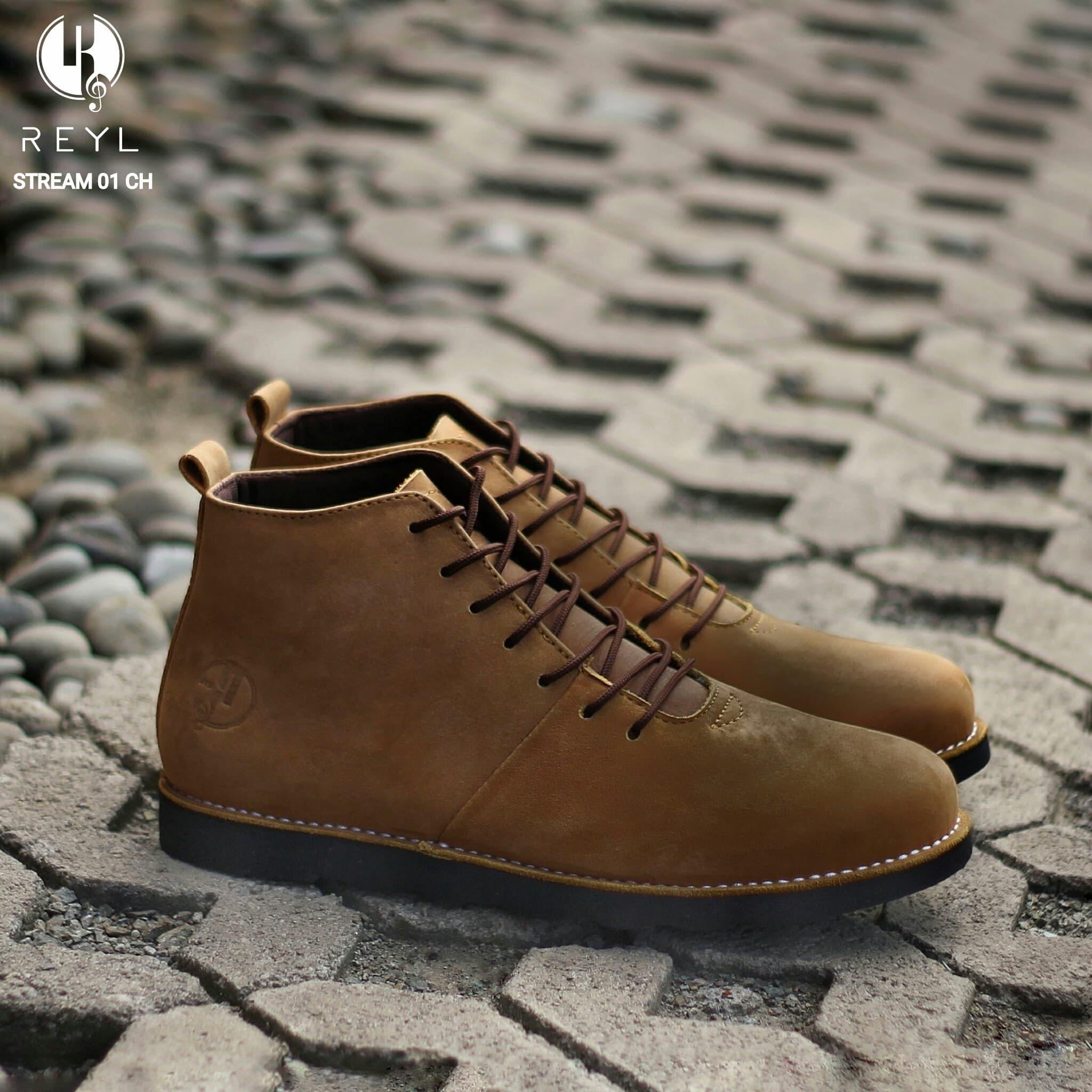 DISKON Sepatu Pantofel Pria REYL Stream 01 CH Original Kulit Asli Fornal bc3072d0ac