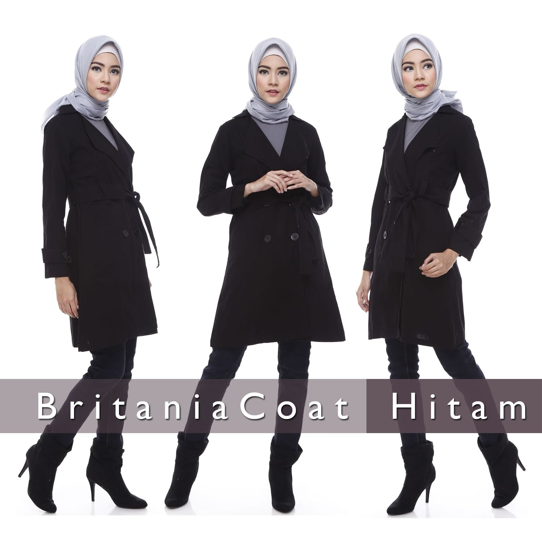 MURAH Jaket Wanita Muslimah Blazer Coat Korea Hitam Grayscale 4L fec8953871