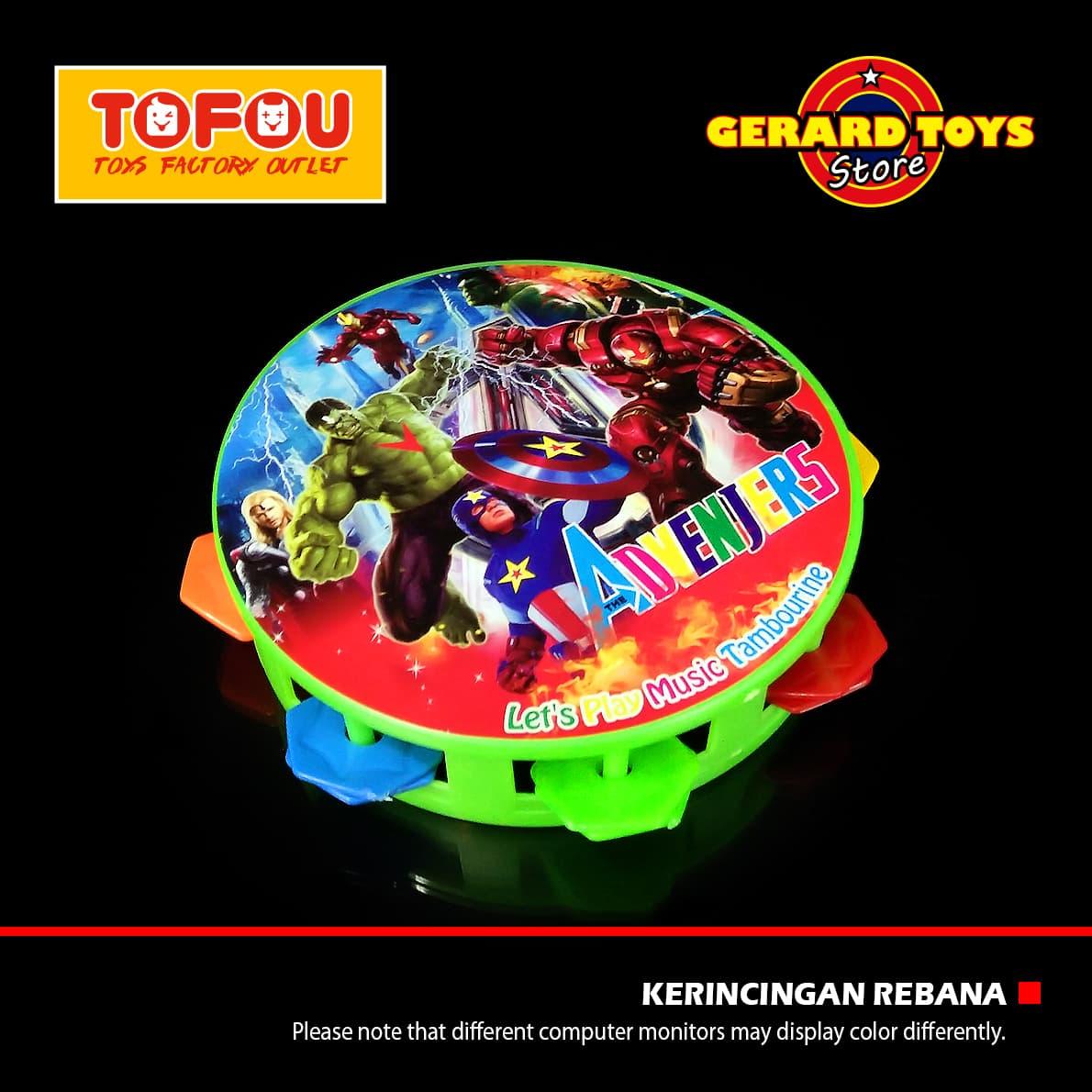 Jual Mainan Anak Rebana Tambourine Bundar Besar JSP2342 Green BAGUS DAN MUR - Eti 'Gerard