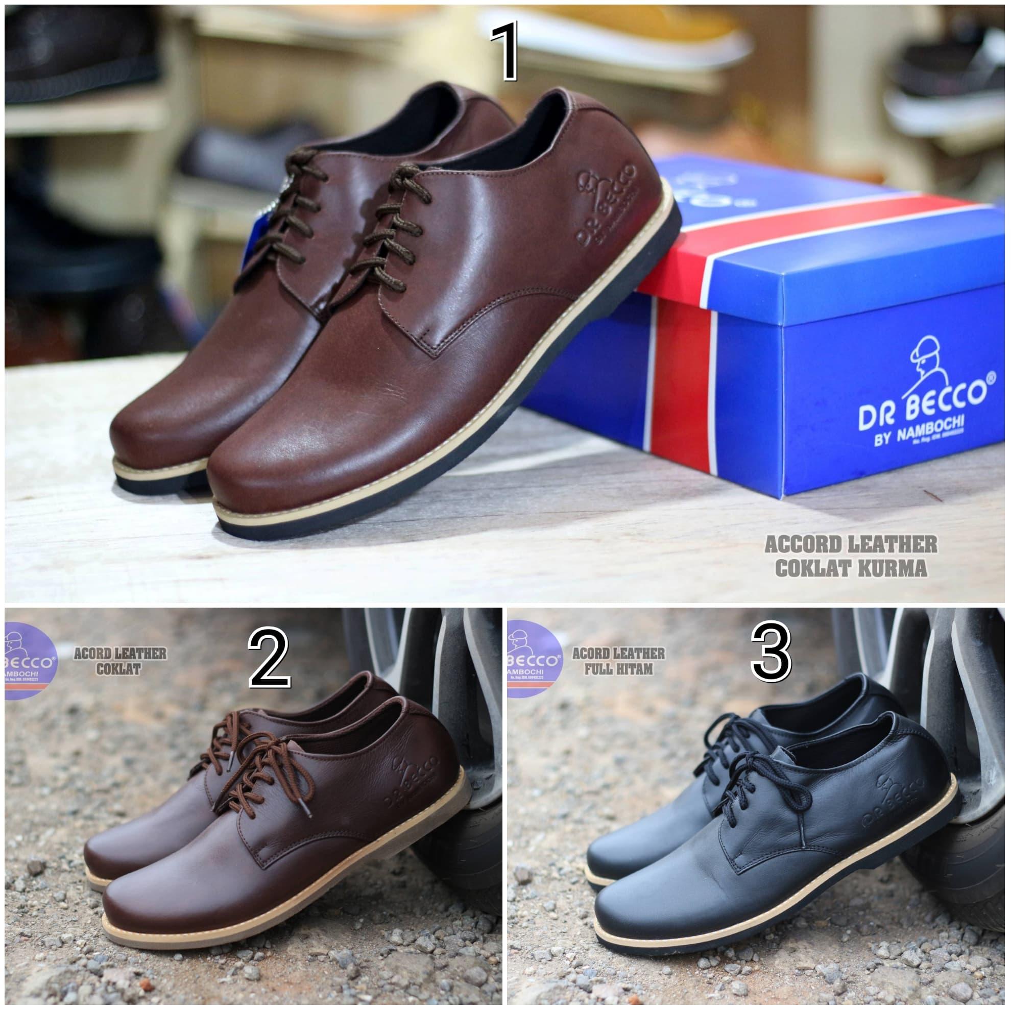 DISKON Sepatu Pantofel Pria Dr. Becco Acord Original Kulit Asli Casual  Formal 1aa80c2f70