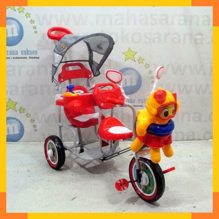 MURAH Sepeda Roda Tiga Anak Family F902KT 2 Kursi Boncengan Musik Dobel 85668f9171