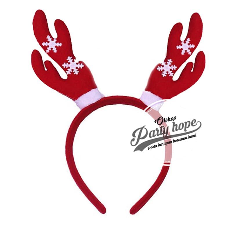 Bando Natal Tanduk Rusa Merah Bando Christmas bandana tanduk rusa thumbnail