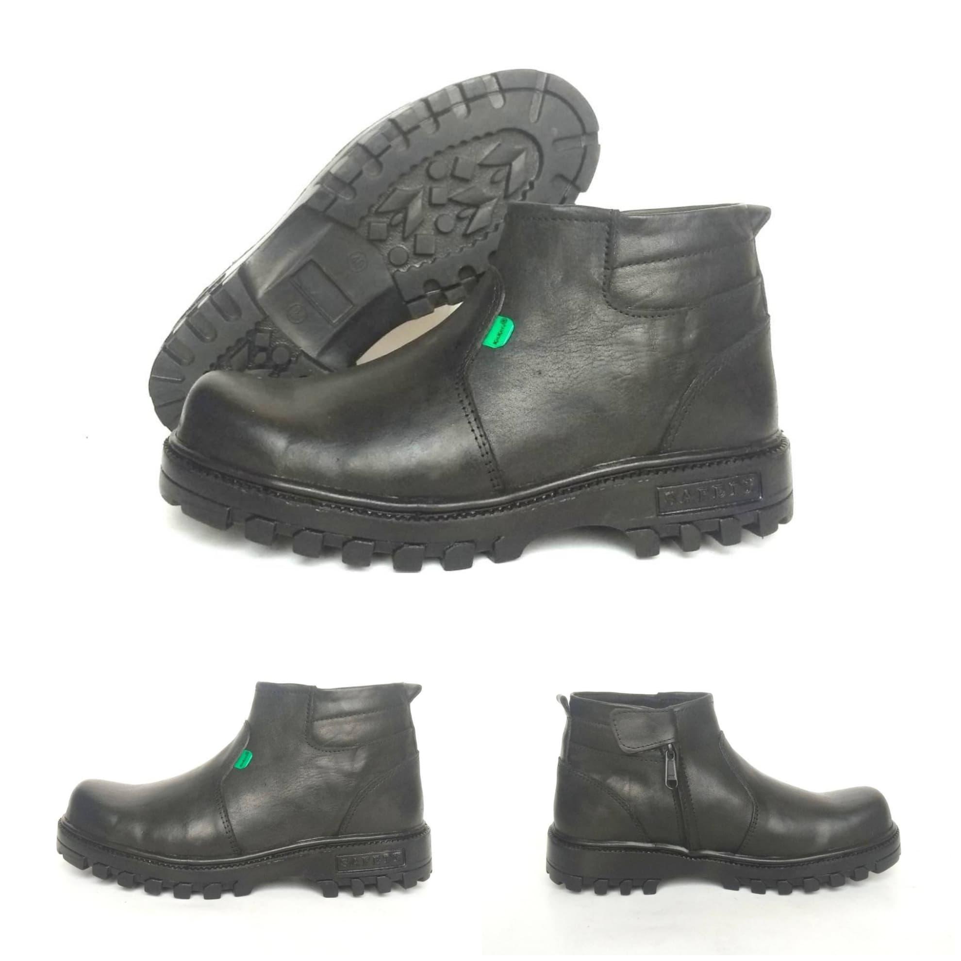 PENAWARAN Sepatu Boots Pria Kickers X Men Safety Kulit Asli Ujung Besi b40a656cb0