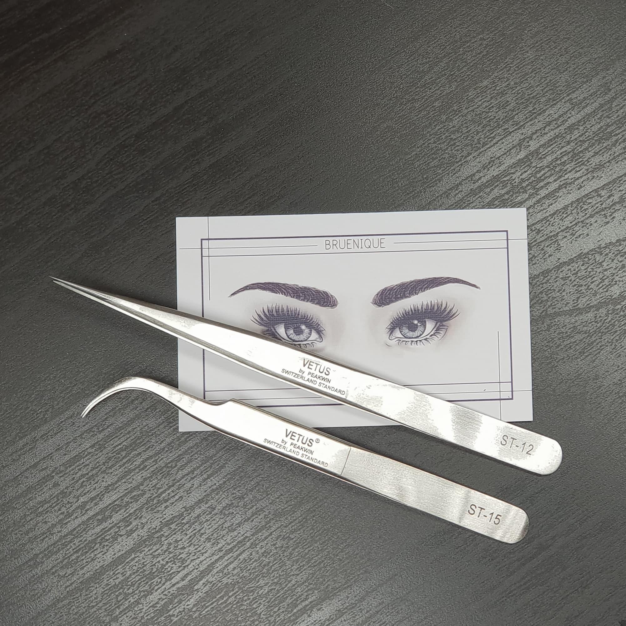 VETUS - ST-12 & ST-15 - pinset tweezer eyelash extension thumbnail