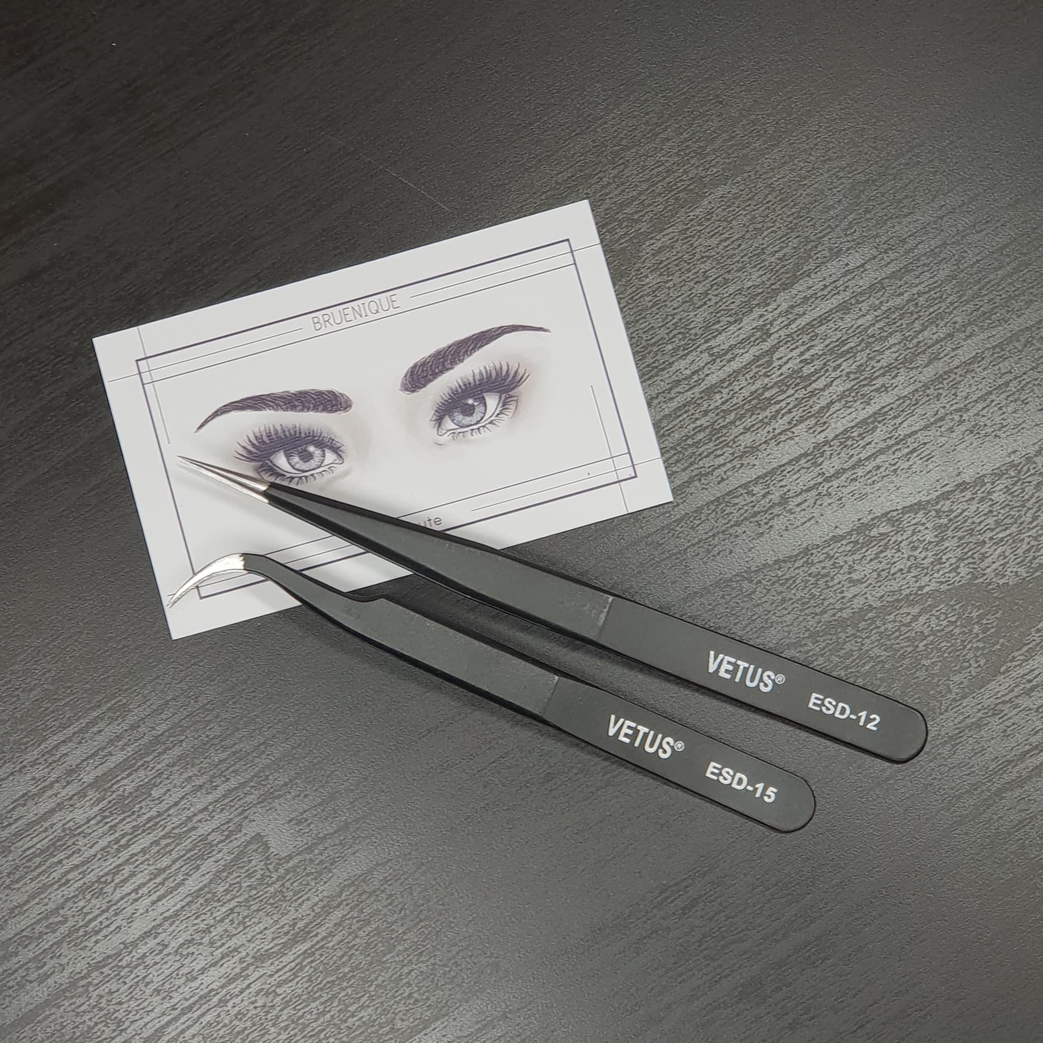 VETUS - ESD-12 & ESD-15 - pinset tweezer eyelash extension thumbnail