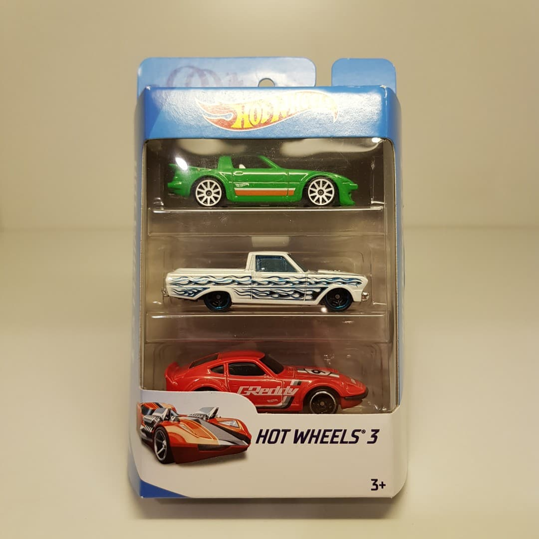 MURAH Hot Wheels Gift Pack 3 Mazda RX7 65 Ford Ranchero Datsun Fairlady Z