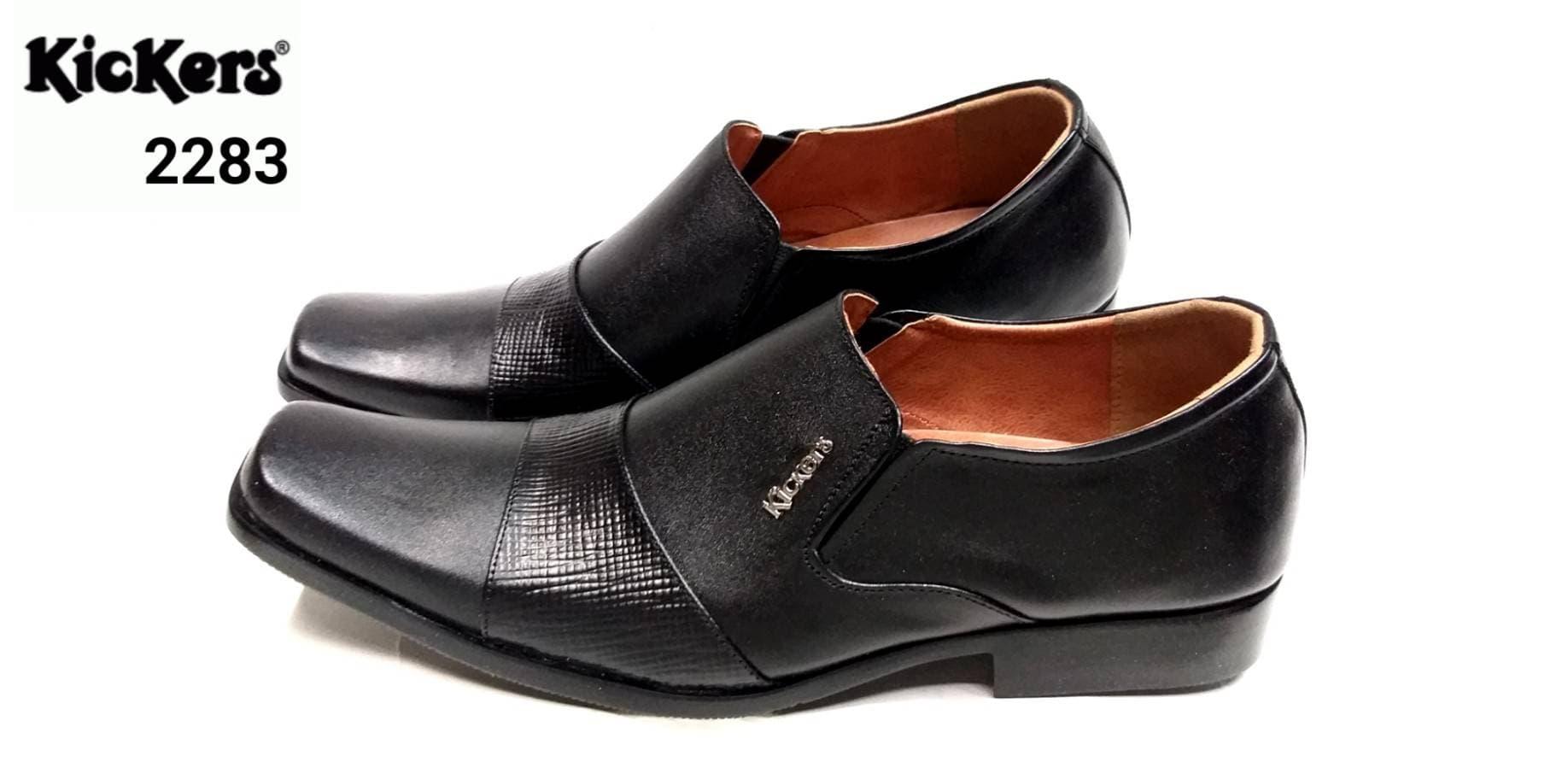PENAWARAN Sepatu Kickers 2283 Hitam Pantofel Pria Kulit Asli Formal Kerja  Kantor 9d853f30c3