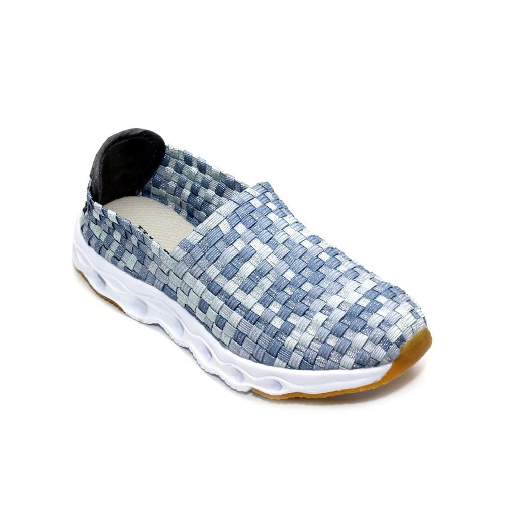 PENAWARAN Sepatu Anak Flat Tikar Rajut Anyaman Ivory IV301-B3 Gre Murah 281360298c