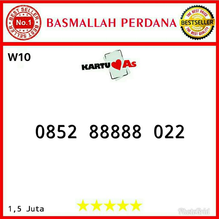 Nomor cantik Telkomsel As Seri Panca 88888 0852 88888 022 RW11