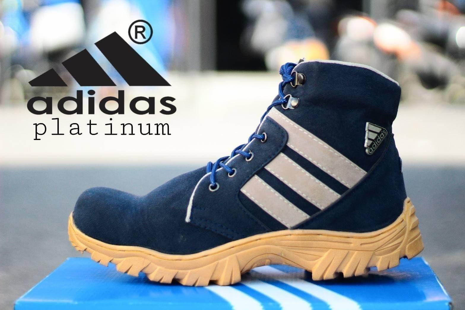 DISKON Sepatu Boots Pria Adidas Platinum Navy Kulit Suede Safety Ujung Besi ceb41b2238