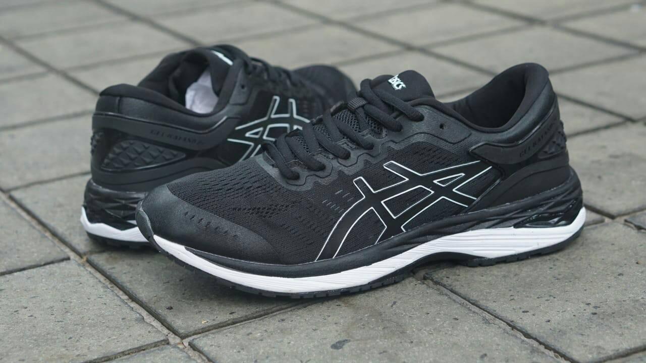 Jual Sepatu Volly Sneakers Asics Gel Kayano 24 Black White ... aaeaf08f68